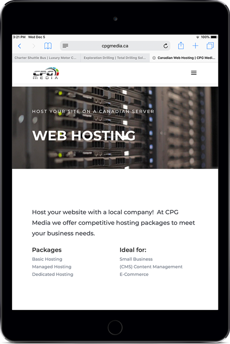 CPG Media Web Hosting