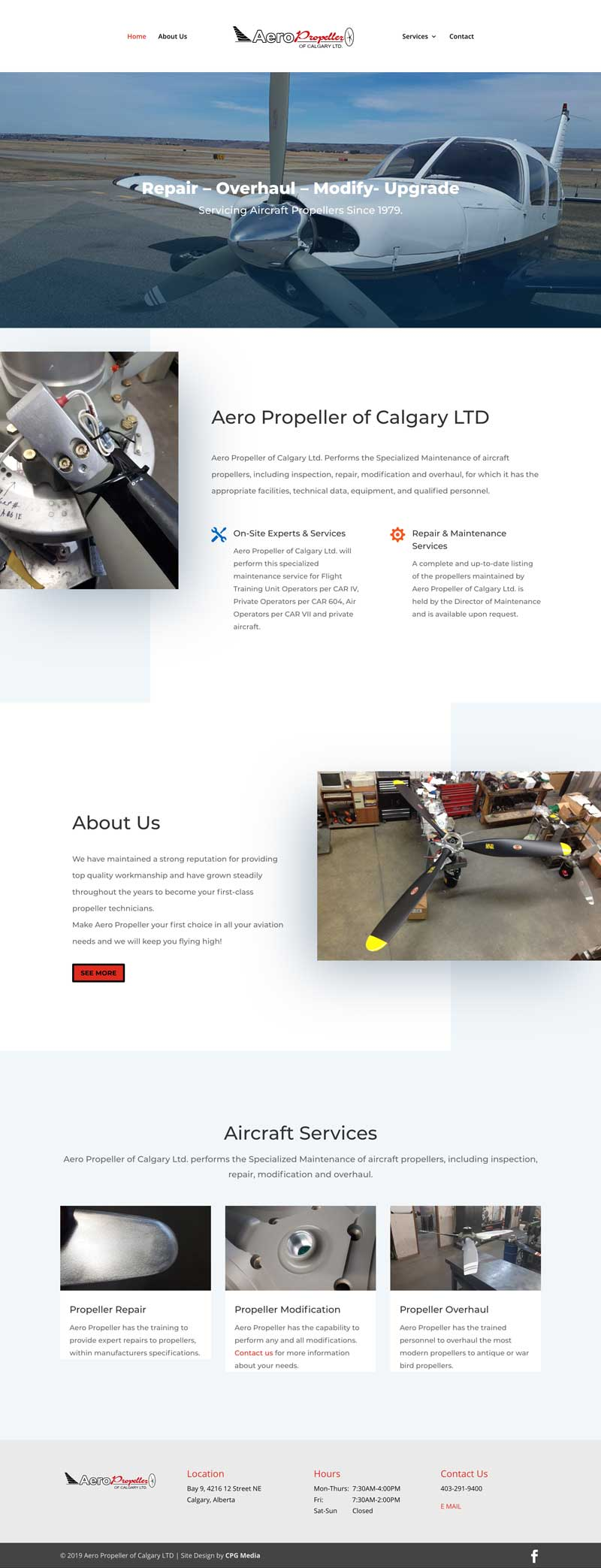 Aero Propeller  - CPG Web Design